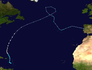 Hurricane Rafael - Image: Rafael 2012 track