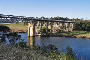 East Gippsland Rail Trail - The trail crosses the Nicholson River on a former railway bridge