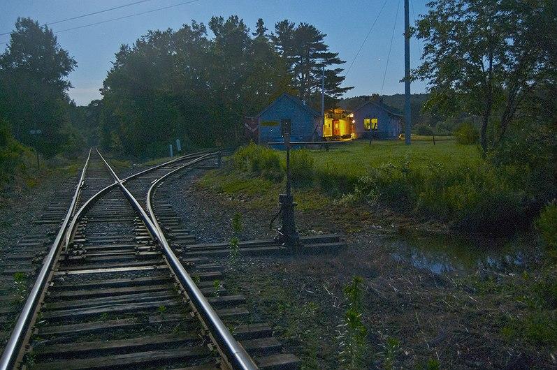 Railroad Turnout on B&MLRR at City Point, ME.jpg