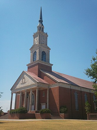 Oklahoma Baptist University - Raley Chapel in summertime