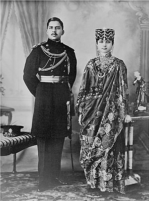 Rana dynasty - Major-General Vishnu Shamsher Rana and wife