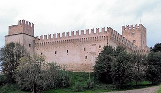 Castello della Rancia building in Tolentino, Italy