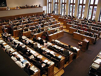 The Grand Council, the cantonal parliament Rathaus Bern - Session des Grossen Rates.jpg