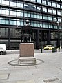 Rear of the statue of George Peabody between Cornhill and Threadneedle Street - geograph.org.uk - 1761457.jpg