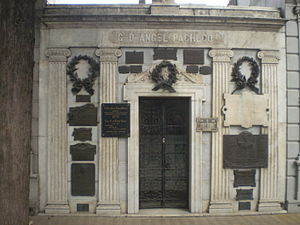 Ángel Pacheco - Pacheco's tomb