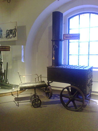 Heated shot - Mobile furnace, operated by the Royal Norwegian Navy, used to heat cannon shots (ca. 1860).