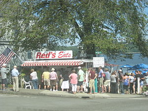 Wiscasset, Maine - Red's Eats, a famous Lobster takeout restaurant