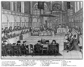 Synod - Members of a Reformed Synod in Amsterdam by Bernard Picart (1741)