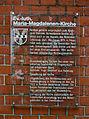 Reinbek Maria-Magdalenen-Kirche Tafel.jpg