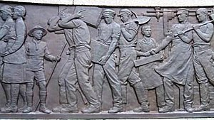 Joseph Hermon Cawthra - Image: Relief on Bury War Memorial Civilians
