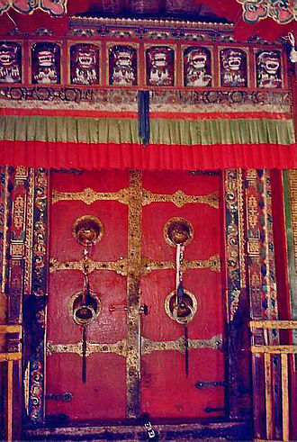Drepung Monastery - The repaired entrance to Drepung