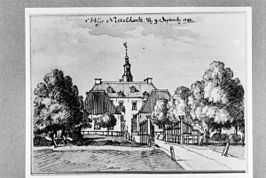 De Nettelhorst in 1743 door Jan de Beijer