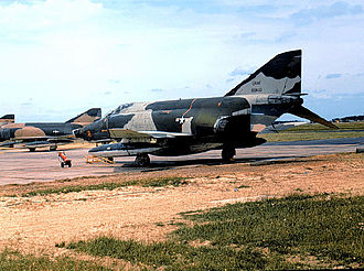 RAF Upper Heyford - Newly arrived RF-4Cs of the 66th Tactical Recon Wing - September 1969. McDonnell RF-4C-31-MC Phantom 66-0430 is in the foreground. This aircraft served for many years, eventually being retired to AMARC on 8 October 1992.