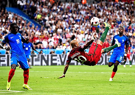 c6419822d86f0 Quaresma performs a bicycle kick against France at Euro 2016