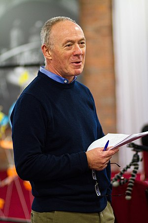 Richard Leese - Richard Leese talking at the University of Salford in 2012.