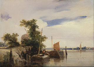 Barges on a River