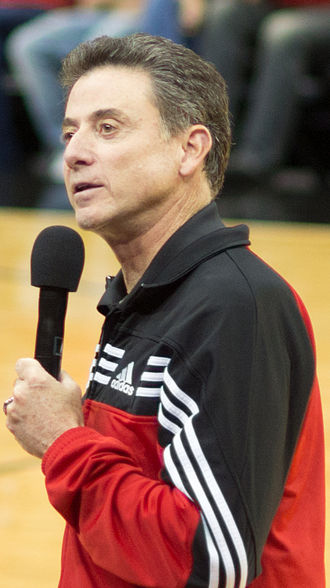 Rick Pitino - Pitino addresses the crowd before Louisville's 2012 Red-White Scrimmage