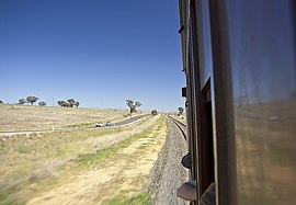Riding in CPH 24 on the Main Southern railway line outskirts of Junee.jpg