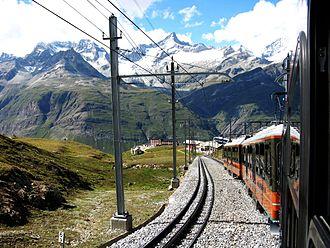 Gornergrat Railway - Image: Riffelberg