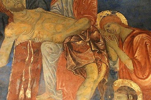 Rinaldo da siena (attr.), Deposizione, 1280 circa