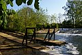 River Cherwell- weir at Parsons Pleasure (geograph 5496010).jpg