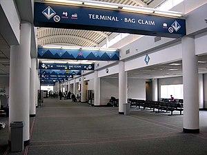 Roanoke–Blacksburg Regional Airport - Airside in the main terminal