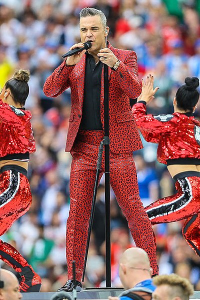 Picture of a band or musician: Robbie Williams