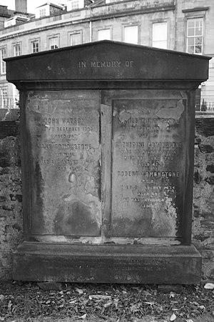 Robert Edmonstone - Robert Edmondstone's memorial, St Cuthbert's Edinburgh