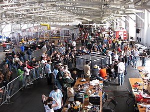 RoboGames - RoboGames 2008. (The large structure in the upper left is the combat robot arena.)