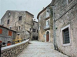 View of the historical center of Roccasecca.