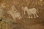 Rock painting, Bhimbetka, Raisen district, MP.jpg