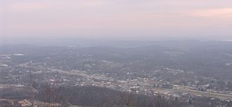 Rockwood, Tennessee - Rockwood, viewed from Mt. Roosevelt (Walden Ridge)