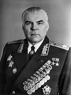 Soviet military commander and politician
