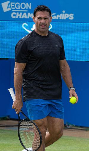 Roger Rasheed - Rasheed at the 2015 Aegon Championships in London, coaching Grigor Dimitrov