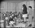 Rohwer Relocation Center, McGehee, Arkansas. Lily Namimoto, teacher. Student teachers in second gr . . . - NARA - 538958.tif