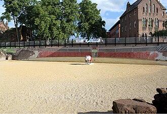 Chester Roman Amphitheatre - Chester's Amphitheatre Mural by Gary Drostle