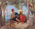 Romance in Naples, by Thomas Uwins.jpg