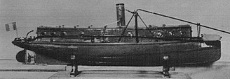 Romanian War of Independence - The spar torpedo boat Rândunica