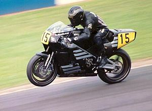 ron haslam on a norton motorcyclejpg
