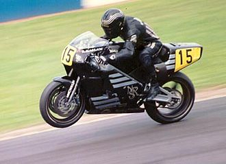 Ron Haslam - Haslam on a 1990s rotary-engined Norton