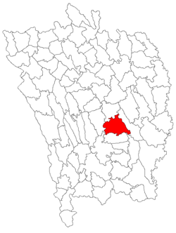 Location of Roșiești
