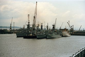 Rosyth Dockyard - Rosyth Dockyard in 1986