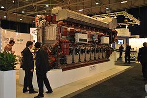 Maschinenbau Kiel - MaK 8M32C marine diesel engine (8 cylinder inline, 8MW)