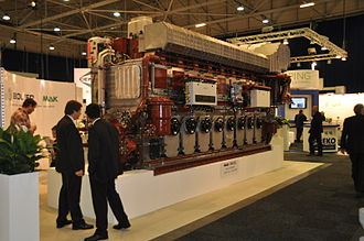 Maschinenbau Kiel - MaK 8M32C marine diesel engine (8 cylinder inline, 4MW)