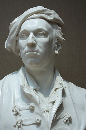 Joseph Wilton - Roubiliac by Joseph Wilton, 1761, National Portrait Gallery, London