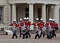 Royal Gibraltar Regiment nine drummers drumming.jpg