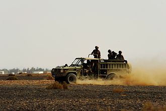 Jordanian Armed Forces - Special Operation Forces at Shaheed Mwaffaq Air Base showing a KADDB manufactured Desert Iris vehicle, November 2010