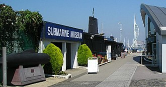Royal Navy Submarine Museum - View of the Royal Navy Submarine Museum
