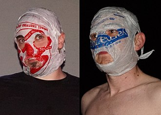 The Rubberbandits - Blindboy Boatclub (left) and Mr Chrome (right)