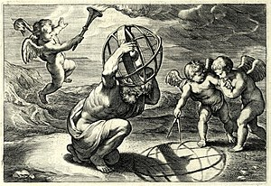 "Stereographic projection - Illustration by Rubens for ""Opticorum libri sex philosophis juxta ac mathematicis utiles"", by François d'Aguilon. It demonstrates how the projection is computed."
